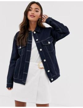 Glamorous Denim Jacket With Contrast Stitching by Glamorous