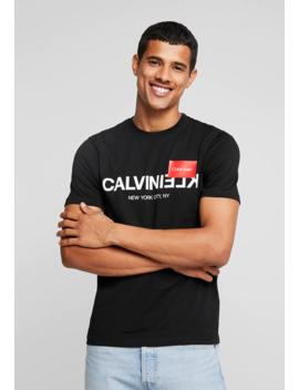 Text Logo   T Shirt Print by Calvin Klein