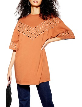 Broderie Tunic Top by Topshop