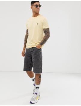 Lyle &Amp; Scott Logo T Shirt In Yellow by Lyle & Scott