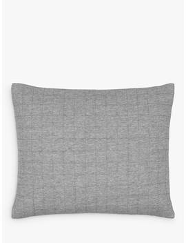 House By John Lewis Jersey Cushion, Navy, Steel by House By John Lewis