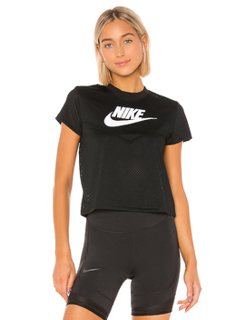 Heritage Short Sleeve Mesh Top by Nike