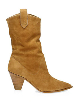 Boogie Suede Cowboy Booties by Aquazzura