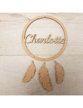 Wooden Mdf Child's Dreamcatcher Personalised Hanging Craft Shape by Ebay Seller
