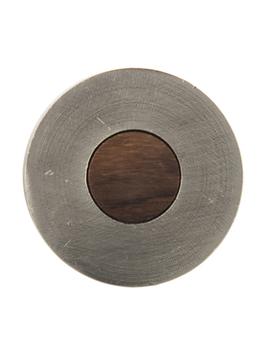 Nickel & Wood Round Knob by Hobby Lobby
