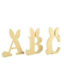 Freestanding Easter Rabbit Letters & Numbers Mdf Wooden Crafts Blanks Gift 200 Mm by Ebay Seller