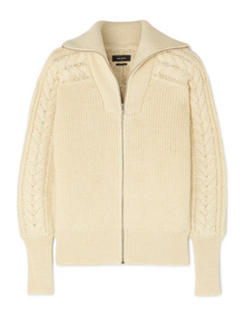 Lenz Cable Knit Alpaca And Wool Blend Cardigan by Isabel Marant