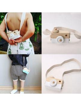 Kids Baby Wooden Wood Camera Neck Room Decor Safe Camera Baby Kids Toys Birthday by Ebay Seller
