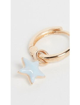 14k Tiny Star Huggie by Alison Lou