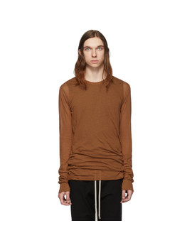 T Shirt à Manches Longues Brun Basic by Rick Owens