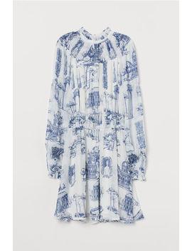 Chiffongklänning Med Smock by H&M
