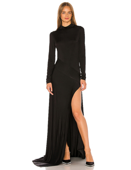 Empire Jersey Gown In Black by Michael Lo Sordo