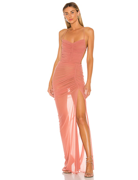 X Revolve Follie Gown In Mauve by Michael Costello