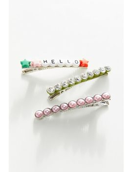 Hello, It's Me Hair Clip Set by Urban Outfitters