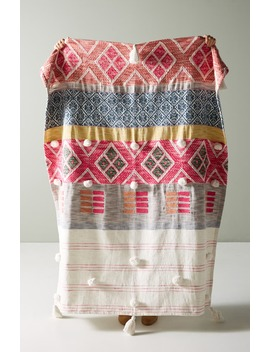 Rosewood Throw Blanket by Anthropologie
