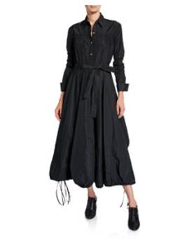 Taffeta Midi Shirtdress by Co