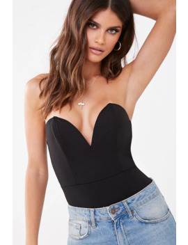 Strapless V Wire Thong Bodysuit by Forever 21