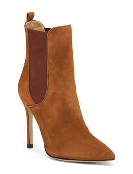 Made In Brazil Suede Pointy Toe Booties by Tj Maxx