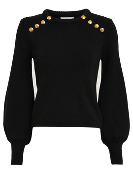 Kayla Button Embellished Wool Sweater by A.L.C.