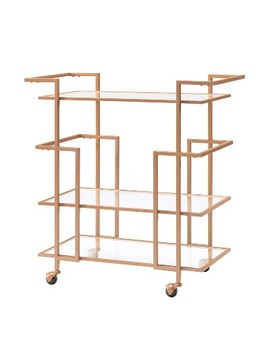 Capton Art Deco Bar Cart   Aiden Lane by Aiden Lane