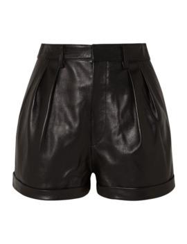 Fabot Pleated Leather Shorts by Isabel Marant