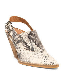 Made In Spain Silverton Western Slingback Mules by Tj Maxx
