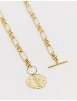 & Other Stories Coin Pendant Necklace In Gold by & Other Stories
