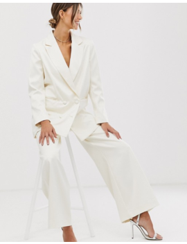 Asos Edition Double Breasted Wedding Blazer In Satin by Asos Edition