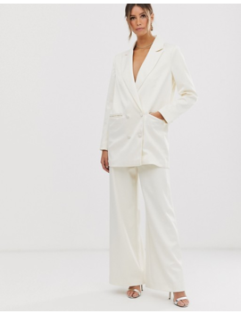 Asos Edition Wide Leg Wedding Trouser In Satin by Asos Edition