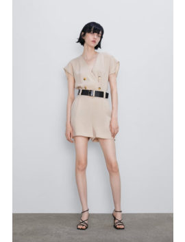 Belted Short Jumpsuit New Inwoman by Zara