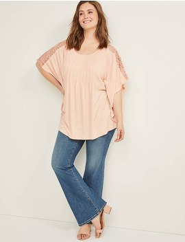 Lace Shoulder Top by Lane Bryant