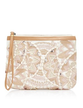 Alfie Embroidered Clutch Bag by Sportsgirl