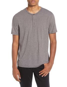 Stripe Cotton Blend Henley T Shirt by Vince
