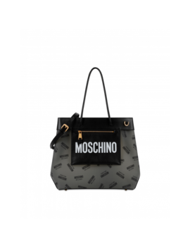 Shopper With All Over Logo by Moschino
