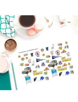 Watercolor Gilmore Girl Decorative Stickers by Etsy
