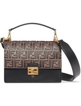 Medium Kan U Logo Leather Shoulder Bag by Fendi