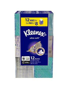 Kleenex Ultra Soft Facial Tissues   Cube Boxes (12 Pk., 65 Tissues) by Kleenex