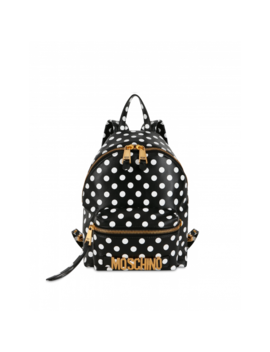 Backpack With Polka Dots Print by Moschino