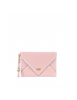 Clutch With Stitching Print by Moschino