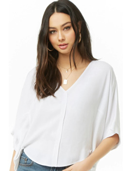High Low V Neck Top by Forever 21