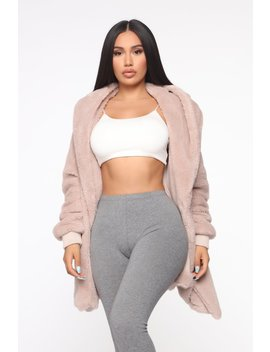 Lounge With Me Jacket   Taupe by Fashion Nova