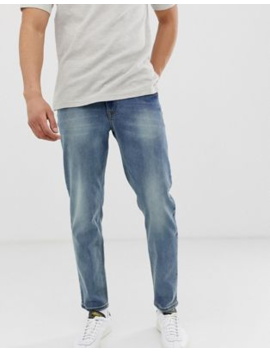 Asos Design – Recycelte, Schmal Zulaufende Jeans In Mittlerer Waschung by Asos