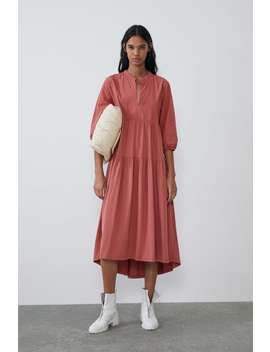 Contrasting Dress Midi Dresses Woman by Zara