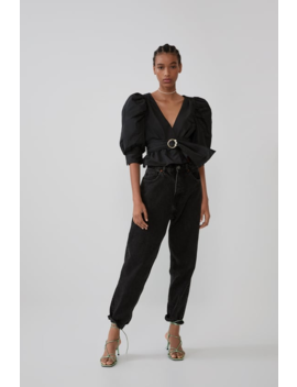 Flowy Belted Top Tops Shirts by Zara