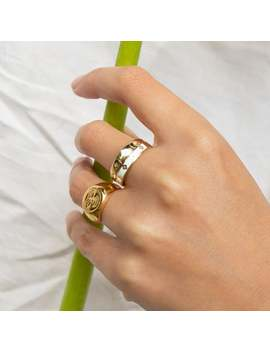 9ct Gold Ring   White Enamel Ring   Gold Ring   Enamel Ring   Ring   Stacking Ring   Signet Ring   9ct Gold   Engagement   Band   J2 R 0462 by Etsy