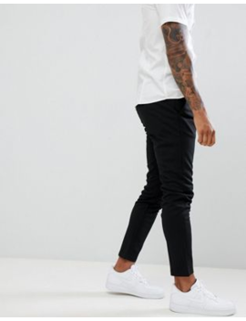 Only &Amp; Sons   Slim Fit Smaltoelopende Broek In Zwart by Only & Sons