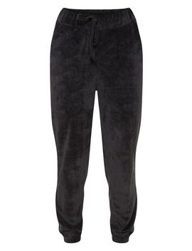 Black Mix & Match Velour Jogger by Prettylittlething