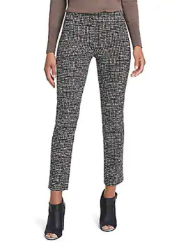 Abstract Tweed Wonderstretch Ankle Pants by Nic+Zoe