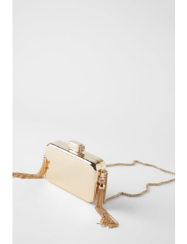 Rigid Gold Bag Bagswomen Shoes & Bags by Zara