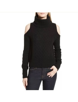 New Theory Cold Shoulder Cable Knit Sweater Size Snwt/New by Theory